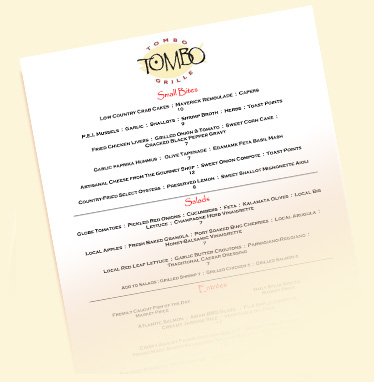 Tombo Grill Wine List link